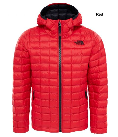 The North Face Boys Thermoball Hoodie Jacket - Warm Synthetic - Red or Black